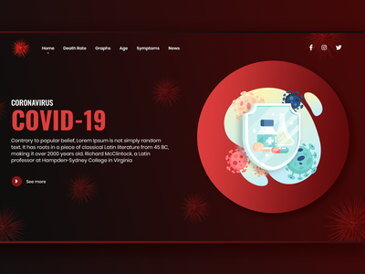 COVID-19 webui webui  ui-design  website ui vector illustration ui design website design uxdesign ux uidesign ui