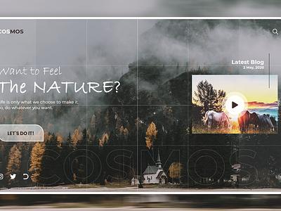 COSMOS covid-19 travel design branding web webui website design uxdesign ux uidesign ui