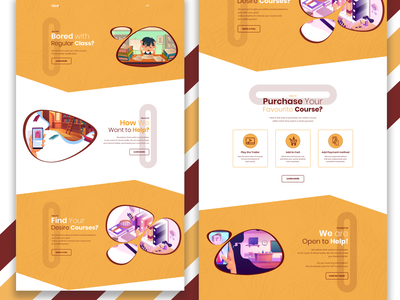 idem.  E-learning Web UI uxdesign ux web ui design vector ui design webui illustration website design uidesign ui
