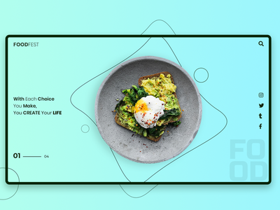 FoodFest elegant colourful colour elegant design restaurant branding foodie simple responsive website responsive web design restaurant design typography web ui design webui uxdesign ux uidesign ui branding