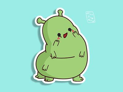 The sweet caterpillar! design cuteart krita artwork cute illustration funtimeartist creaturedesign spring sticker caterpillar myart sweet adventures happy happyart chubby