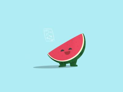 """I'm a watermelon"" 🍉 chubby hug green illustrations design artwork funtimeartist watermelonsugar melon watermelon springtime summer spring illustration creaturedesign"