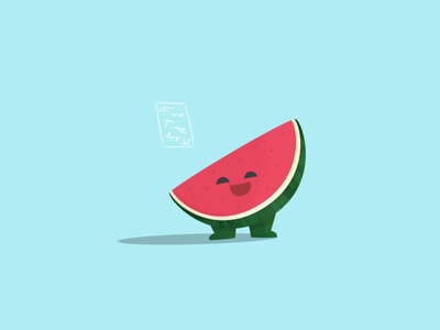 """I'm a watermelon"" 🍉 chubby hug green illustrations design artwork funtimeartist watermelonsugar melon watermelon springtime summer spring illustration creaturedesign"