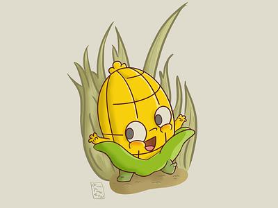 Corncob creature fieldddesigns kritaart krita funtimeartist nature creaturedesign field october halloween cute fall autumn illustration corncob 🌽
