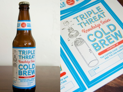 Cold Brew Coffee Label Printed