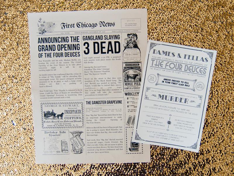 Speakeasy Murder Mystery Print Invitations By Stephanie Haworth