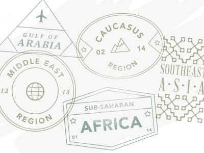Passport Stamps by Region