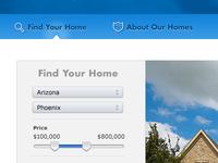 Homebuilder Nav and Filter