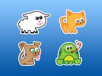 """""""Sticker"""" Animals"""