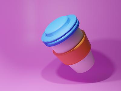 Coffee Cup color c4d illustration design icon blender 3d