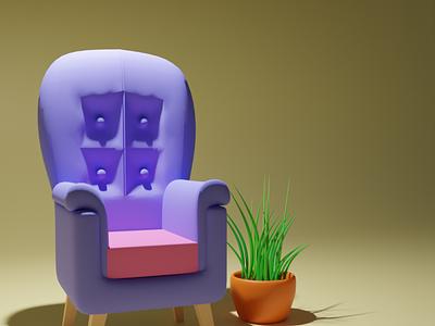 Comfort Zone modern green blender illustration design 3d
