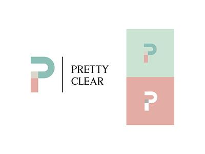 Pretty Clear beach clothing design logo