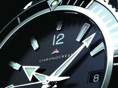 ChronoCrest Logo mountain illustration branding conqueror men adventure time crest luxury logo watches