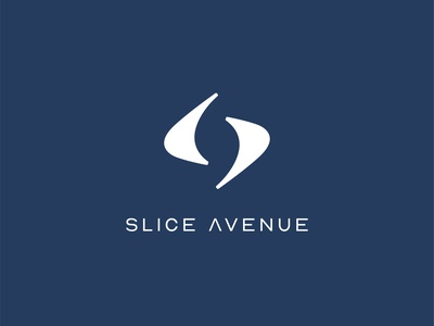 Slice Avenue Logo slice curves sports clothing design logo tennis