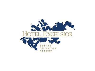 Hotel Excelsior Logo illustration lake suites minnesota design logo luxury hotel