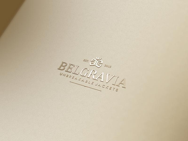 Belgravia Logo jacket clothing branding luxury design logo