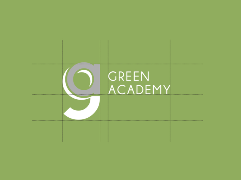 Green Academy Logo design logo graphic design academy green