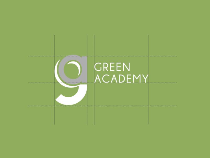 Green Academy Logo design logo graphic design academy green