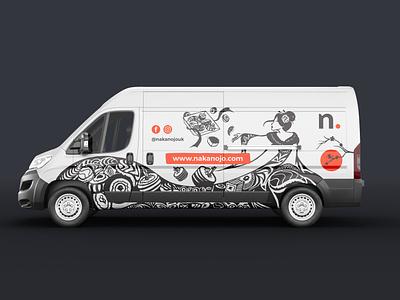 Van design illustration sushi art illustration car design