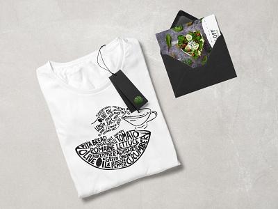 Tshirt art and illustration recipe salad green design illustration artwork art