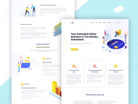 Business Courses and Product Landing page