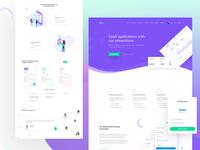 Software & Saas Landing Page design