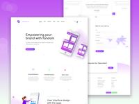 App & SaaS showcase landing page