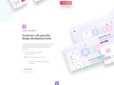SaaS Landing Page website theme trend typography digital shape creative landing page clean creative agency design illustration agency corporate ux ui saas website saas design saas landing page