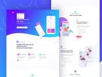Application landing page
