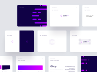 Codex 102 – Brand guidelines 👩🏻‍💼👨🏻‍💼 codex gilroy typography interface minimal ux ui editor document dashboard guidelines violet c bit digital brand branding lawyer law code