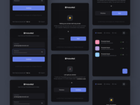 ProtonMail Bridge – App icon typography modern minimal application state status theme ux ui dark protonmail proton hover account mail app