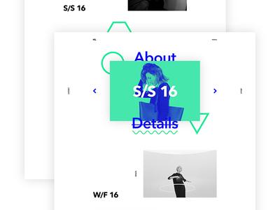 HS. – fashion designer, landing page