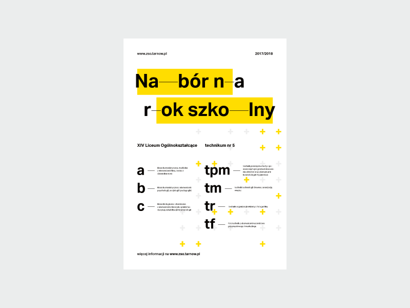 ZSOiT open days – poster modernism identity identification visual pattern yellow kowal przemek school days open poster