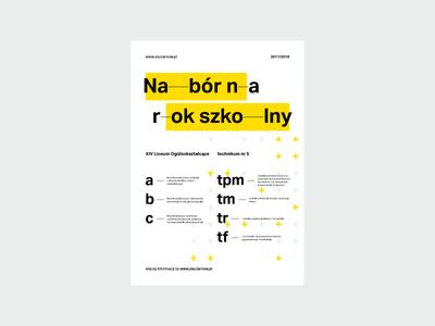 ZSOiT open days – poster modernism identity identification visual pattern yellow kowal przemek school days open poster