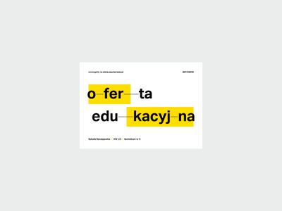 ZSOiT open days – flyer poster open days school przemek kowal yellow pattern visual identification identity modernism