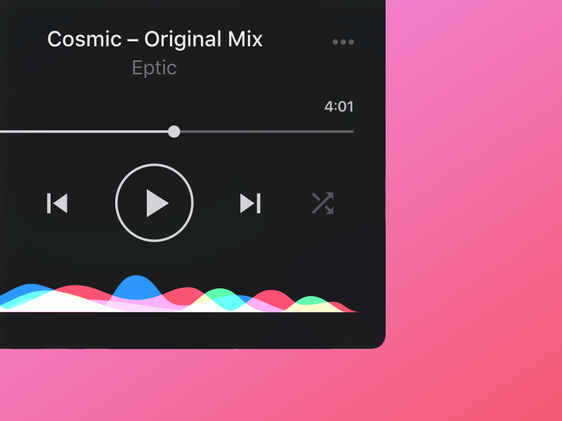 Music Player 🎧 – iOS app animation siri iphone ios design app player music