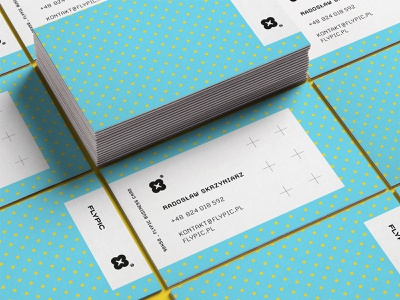 Flypic – business cards modular branding extended colourful pattern symbol drone cards business
