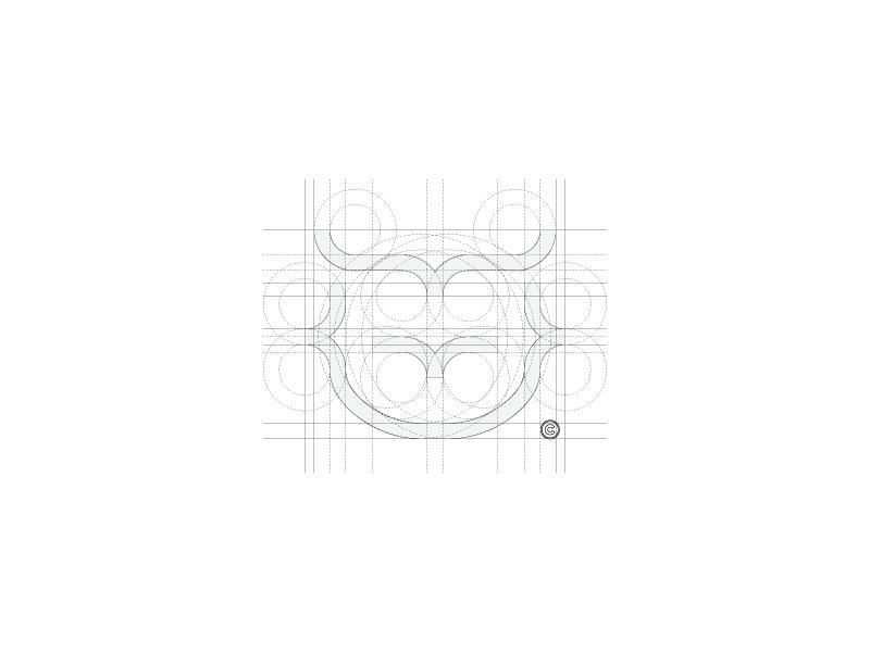 Owl mark — construction creation process lines stroke code technology brackets construction logo owl