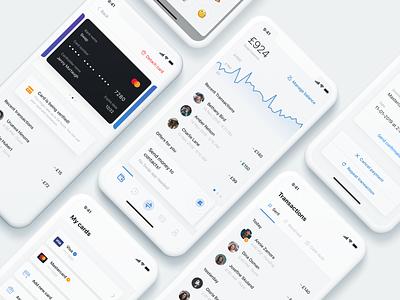 Swap – summary ✍🏻 iphone x design modern mobile ios ux transactions graph alert fintech ui send transfer app minimal