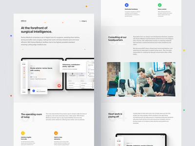 Nodus Medical - The Forefront of Surgical Intelligence typography health doctor blue clean web design ipad pro timeline surgeon medical ipad ux ui