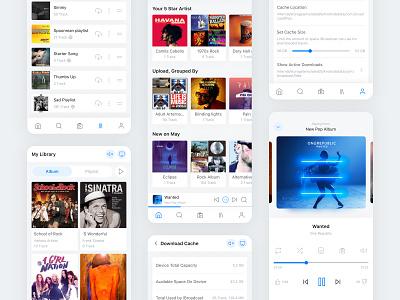 iBroadCast Application Light - Stream Daily Music Library music application desing thinking music stream music app music user interface design ux ui design ui