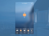 Weather App - DailyUI 037