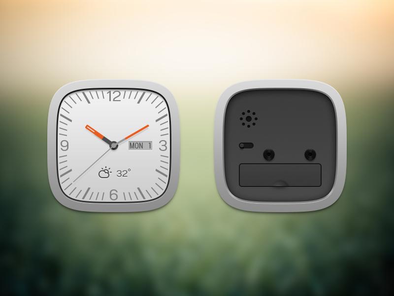 Clock widget front and back clock widget weather
