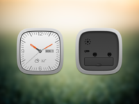 Clock widget front and back