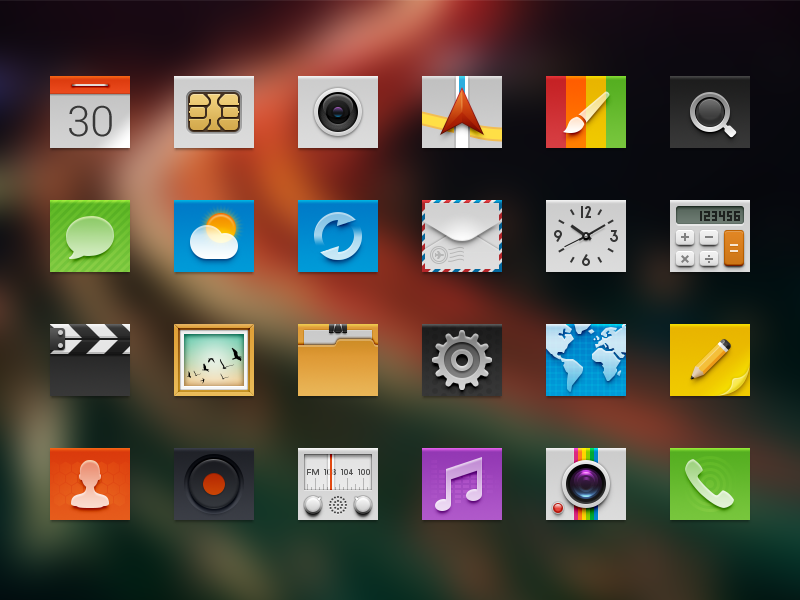 Android Launcher icons IV android icon theme phone