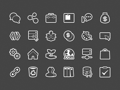 Forum Category Icons Outline by Ashung Hung on Dribbble