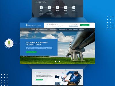 Website for our nonprofit partner Siberian Warmth business company web ux ui nonprofit partner website design