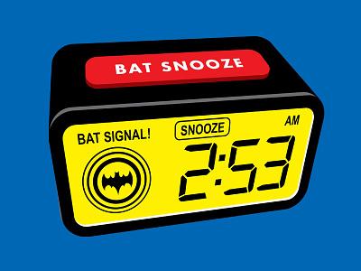Sleep In snooze alarm clcok batman vector t-shirt glenn jones illustration glennz illustrator
