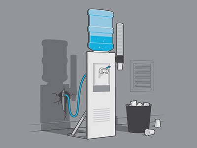 Office Props Tshirt glennz glenn jones vector illustrator illustration watercooler tshirt
