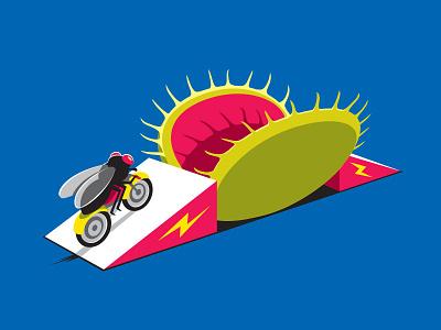 Stunt Fly threadless illustration vector illustrator fly stunt glennz